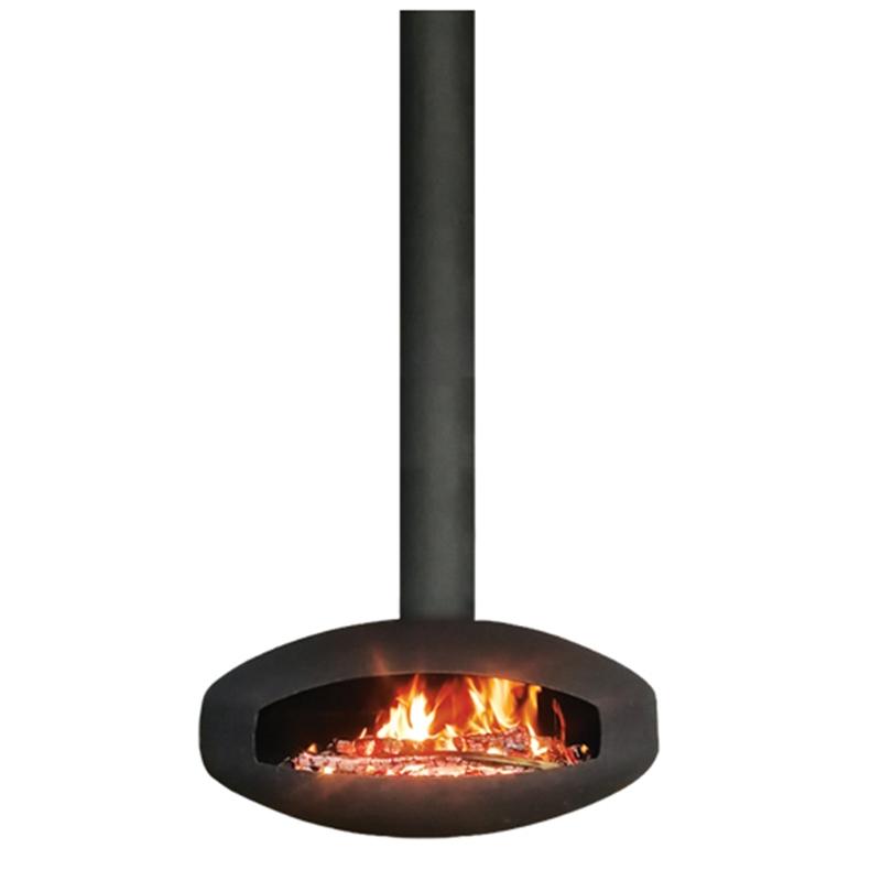 悬挂式燃木壁炉